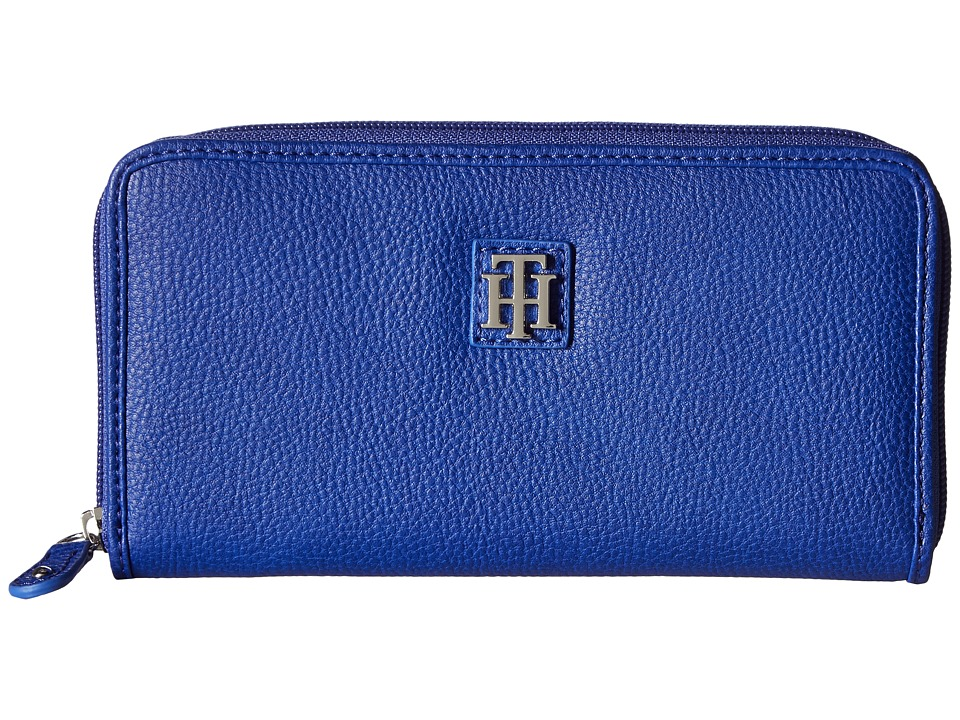 Tommy Hilfiger - Th Serif Zip Around Wallet (Cobalt) Wallet Handbags