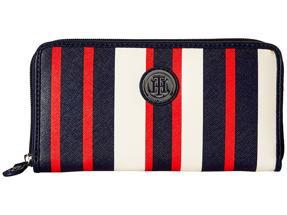 Tommy Hilfiger - TH Medallion Zip Wallet (Navy/Multi) Wallet Handbags