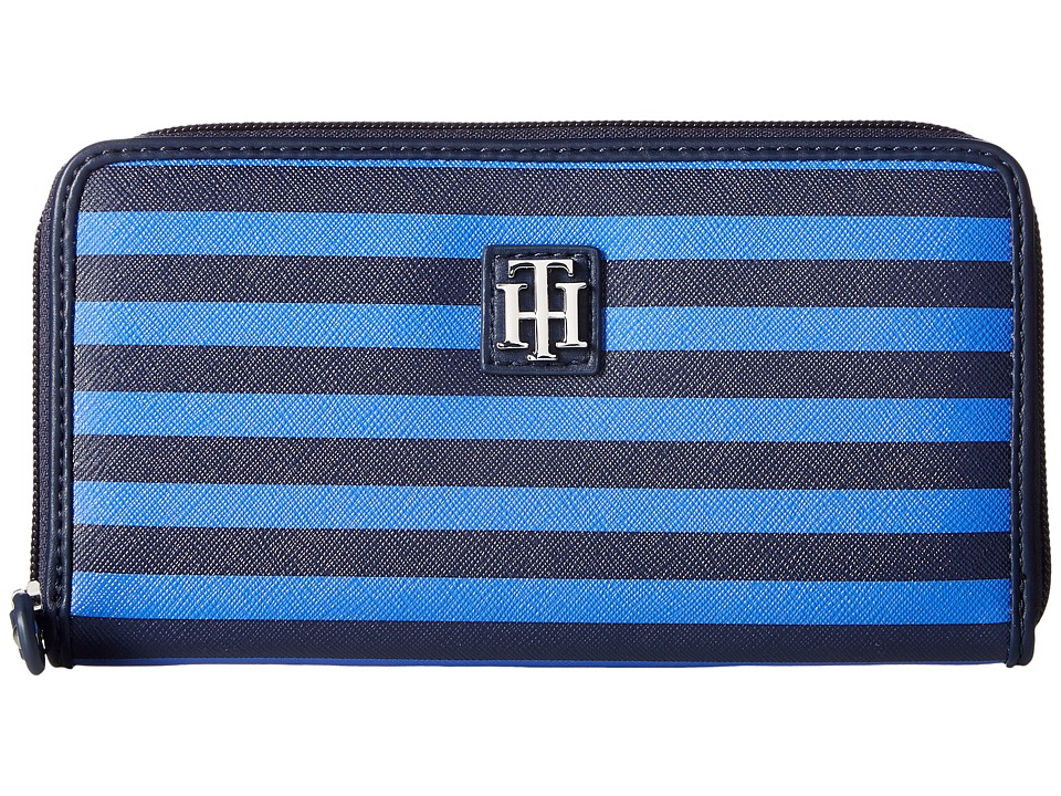 Tommy Hilfiger - Th Serif Zip Around Wallet (Navy/Dory Blue) Wallet Handbags