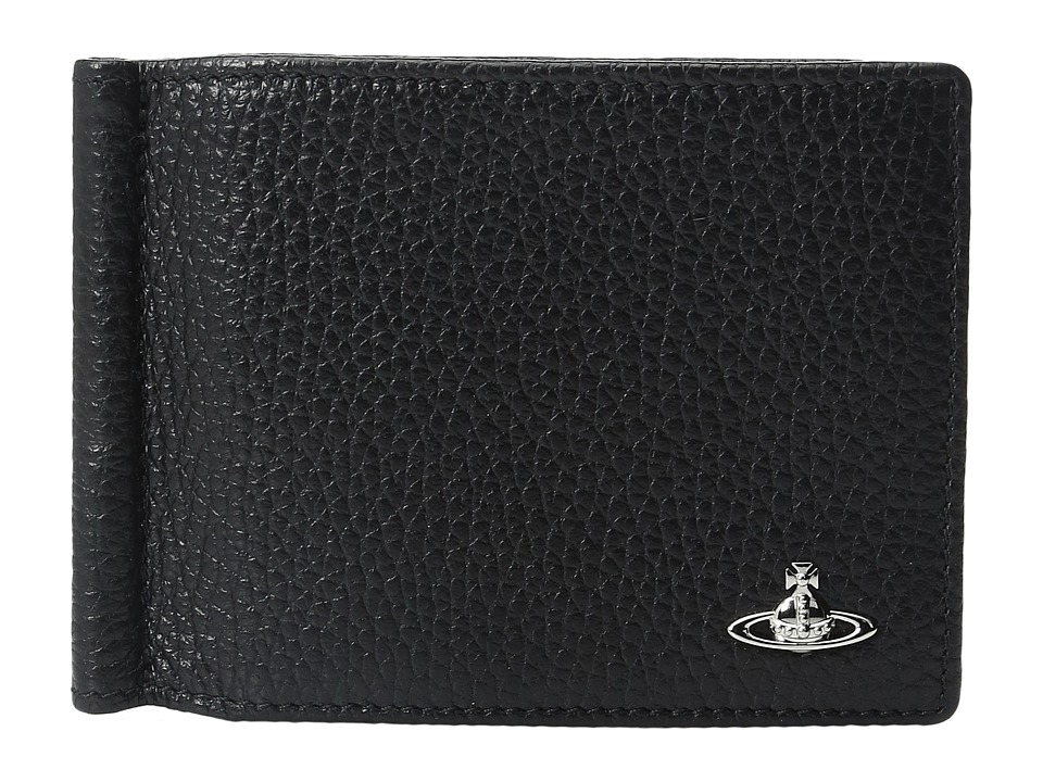 Vivienne Westwood - Milano Wallet w/ Money Clip (Black) Wallet Handbags