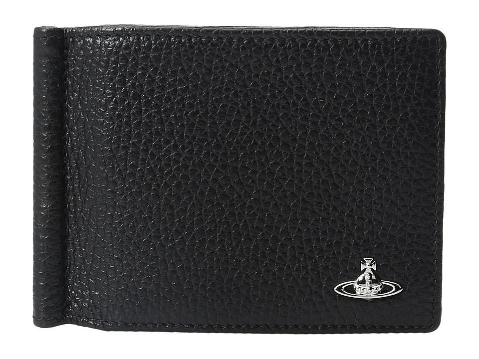 Vivienne Westwood - Milano Wallet w/ Money Clip (Black) Wallet Handbags