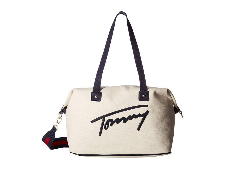 Tommy Hilfiger - Tommy Script Weekender Canvas (Natural) Bags