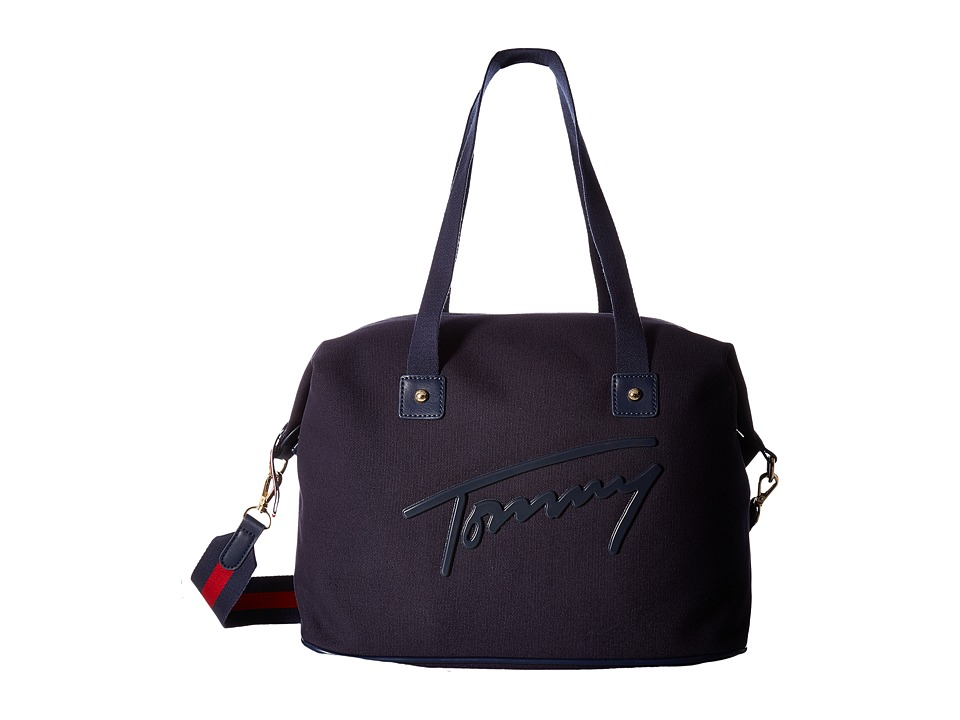 Tommy Hilfiger - Tommy Script Weekender Canvas (Tommy Navy) Bags