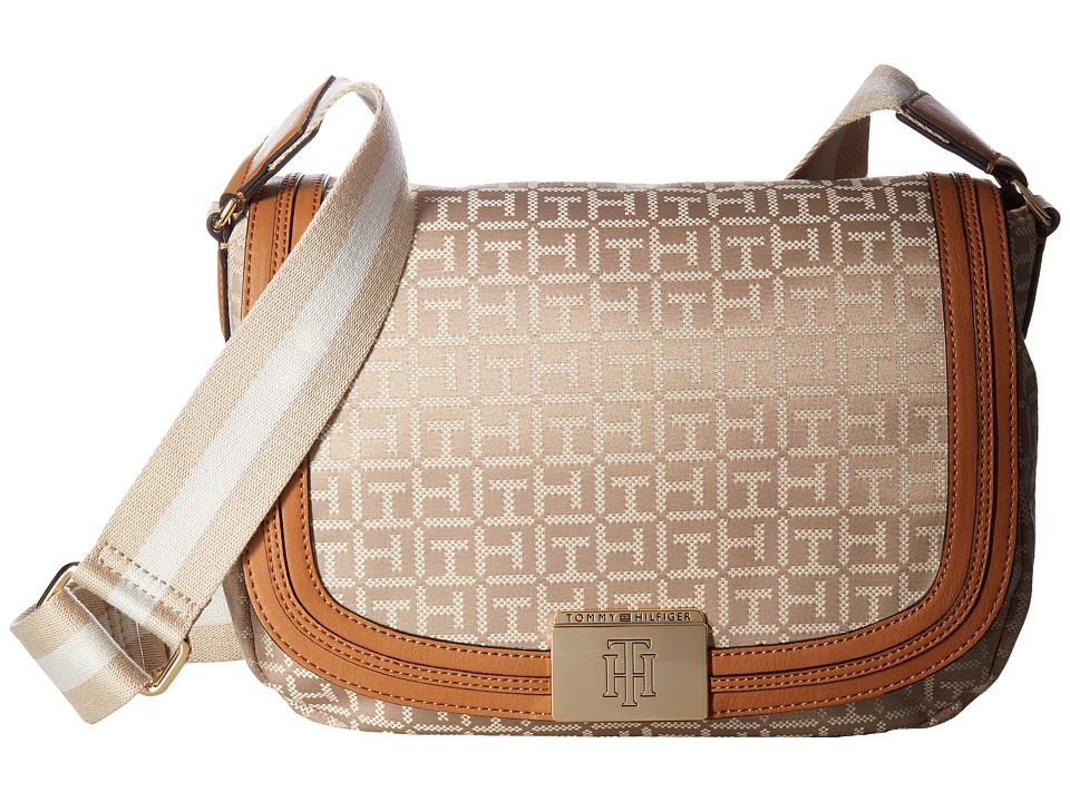 Tommy Hilfiger - Violet Saddle Monogram Jacquard (Khaki Tonal) Bags