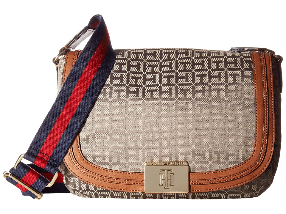Tommy Hilfiger - Violet Saddle Monogram Jacquard (Tan/Dark Chocolate) Bags