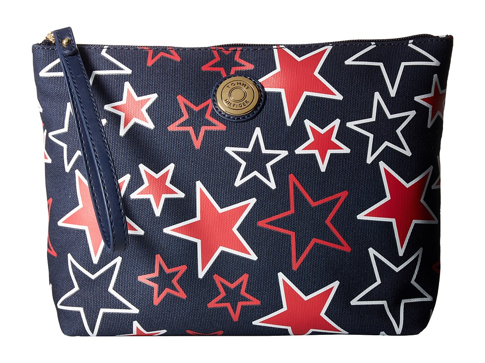 Tommy Hilfiger - Clutch Me II Large Wristlet (Navy/Red) Wristlet Handbags