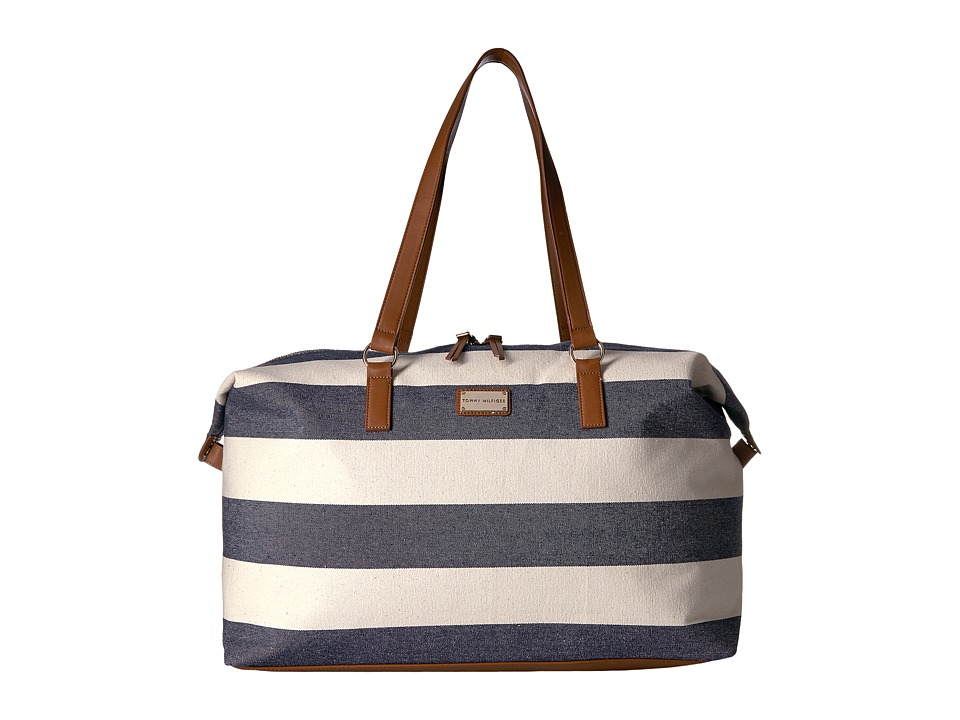 Tommy Hilfiger - Weekender Item II Rugby Canvas (Navy/Natural) Duffel Bags