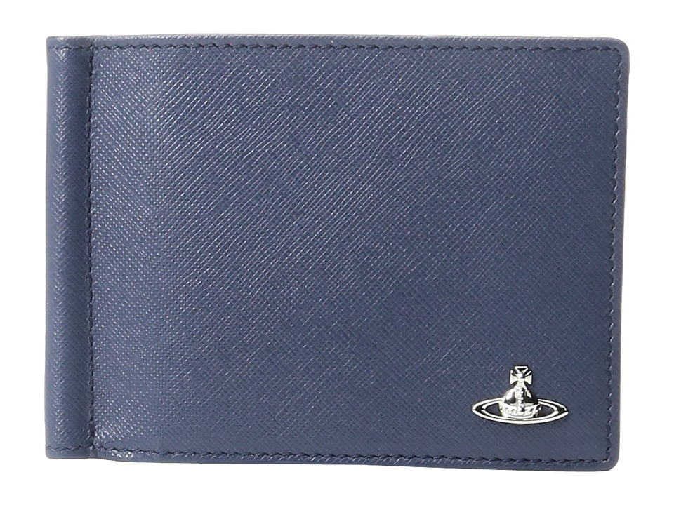 Vivienne Westwood - Kent Wallet w/ Money Clip (Blue) Wallet Handbags