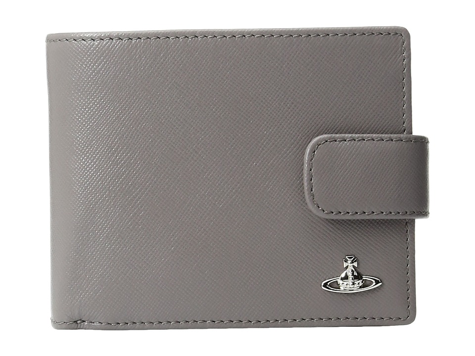 Vivienne Westwood - Kent Wallet w/ Flap (Grey) Wallet Handbags