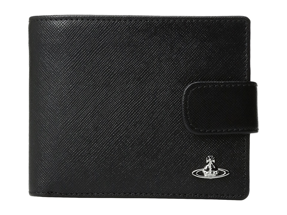Vivienne Westwood - Kent Wallet w/ Flap (Black) Wallet Handbags