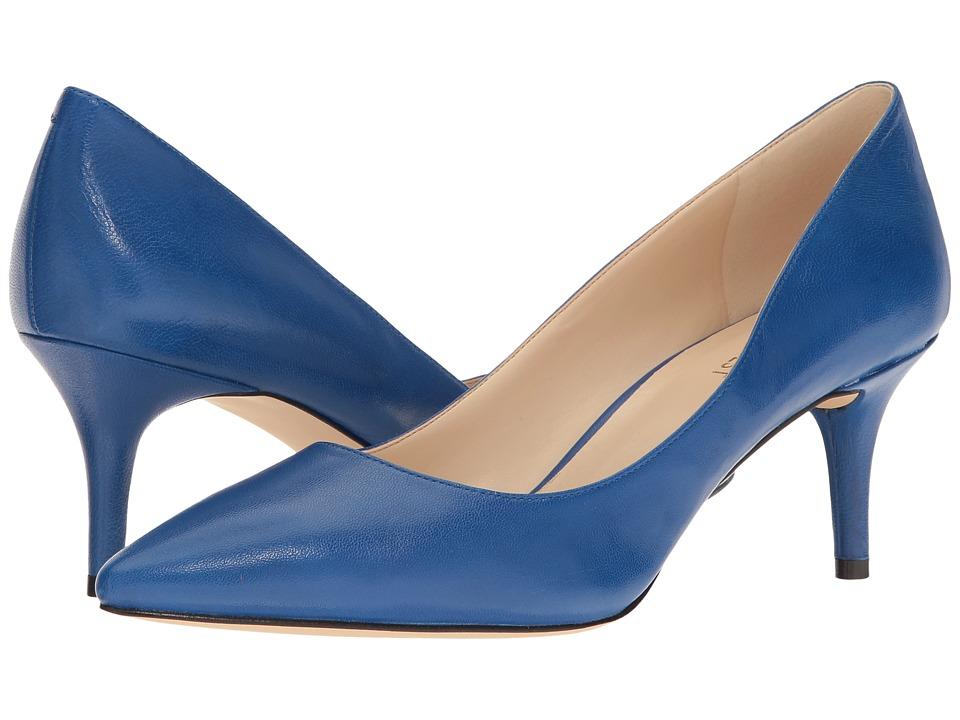 Nine West - Margot (Medium Blue Leather) High Heels