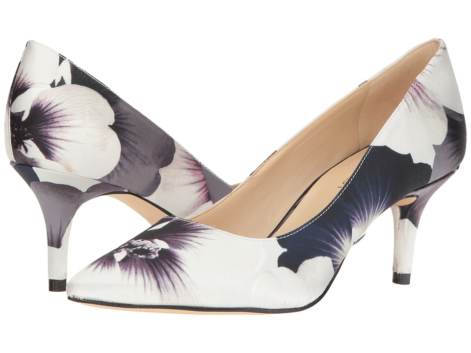 Nine West - Margot (Black/White Pansy Print) High Heels