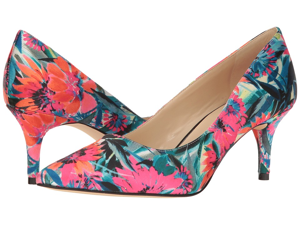 Nine West - Margot (Orange Multi Satin) High Heels