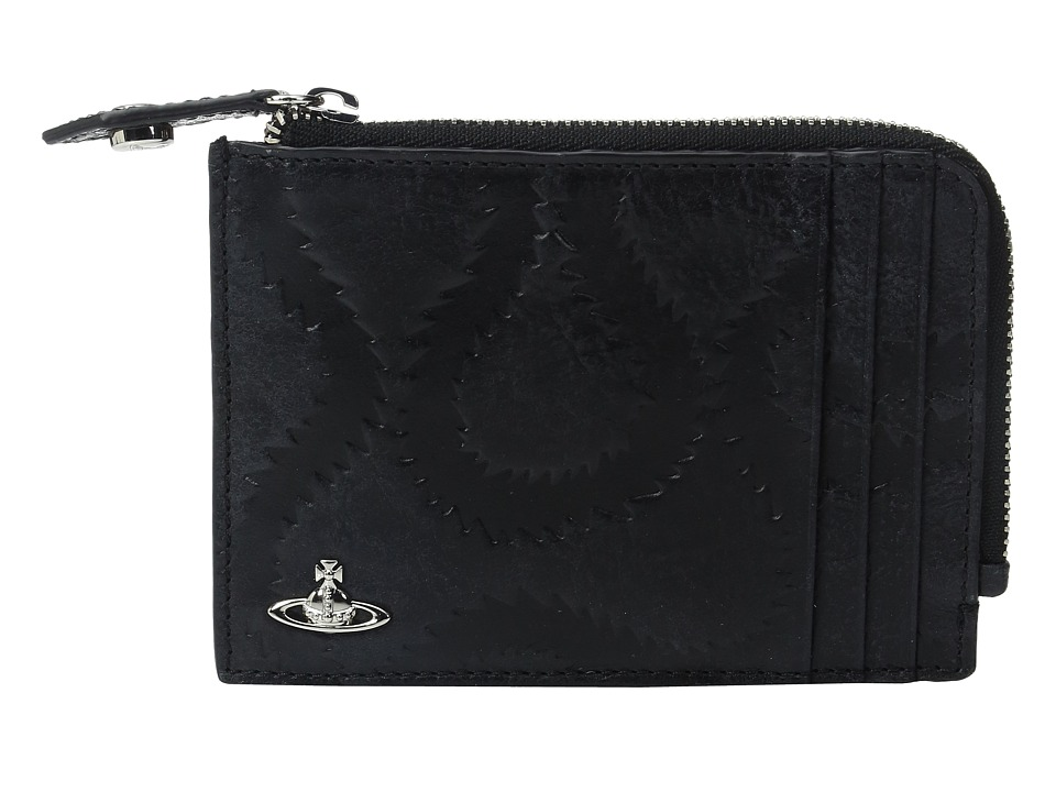 Vivienne Westwood - Belfast Zip Credit Card Wallet (Black) Wallet Handbags