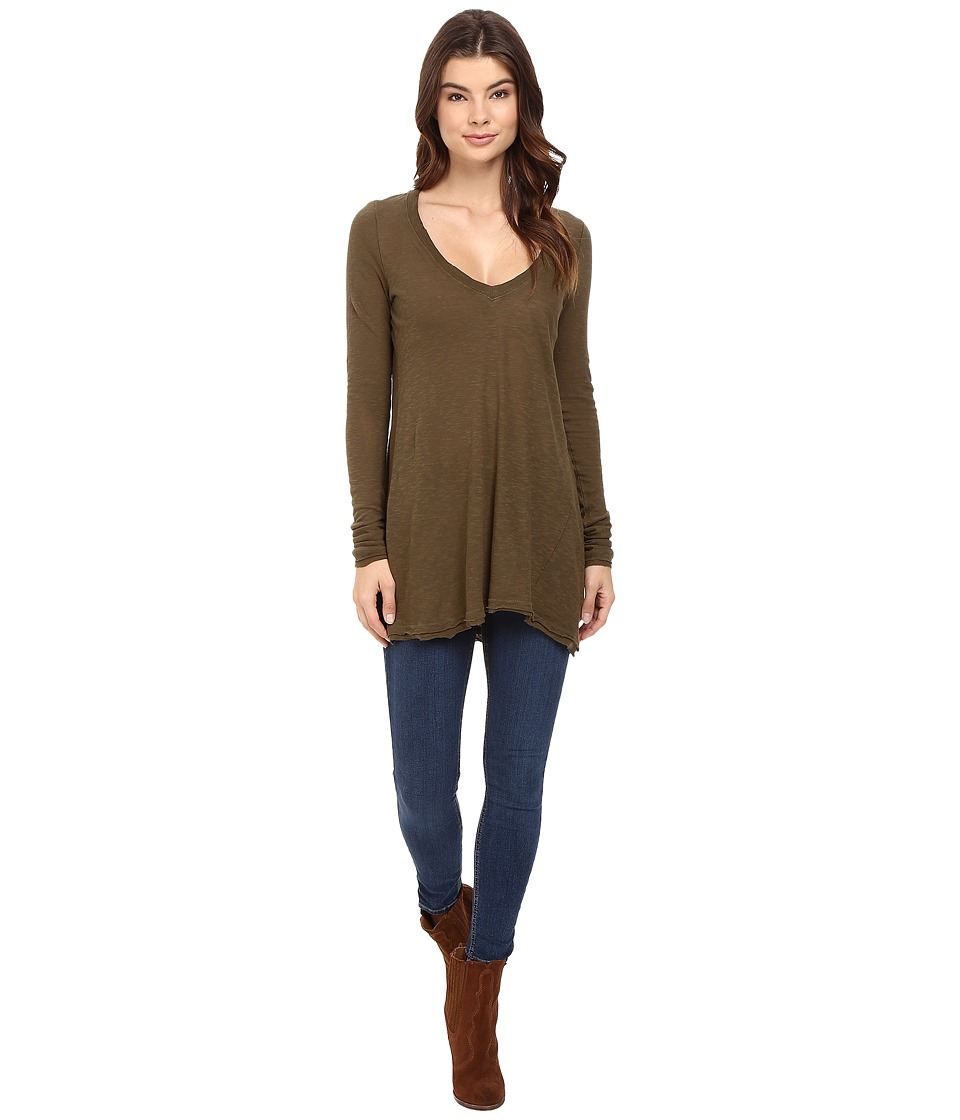 Free People - Anna Tee (Olive) Women's T Shirt