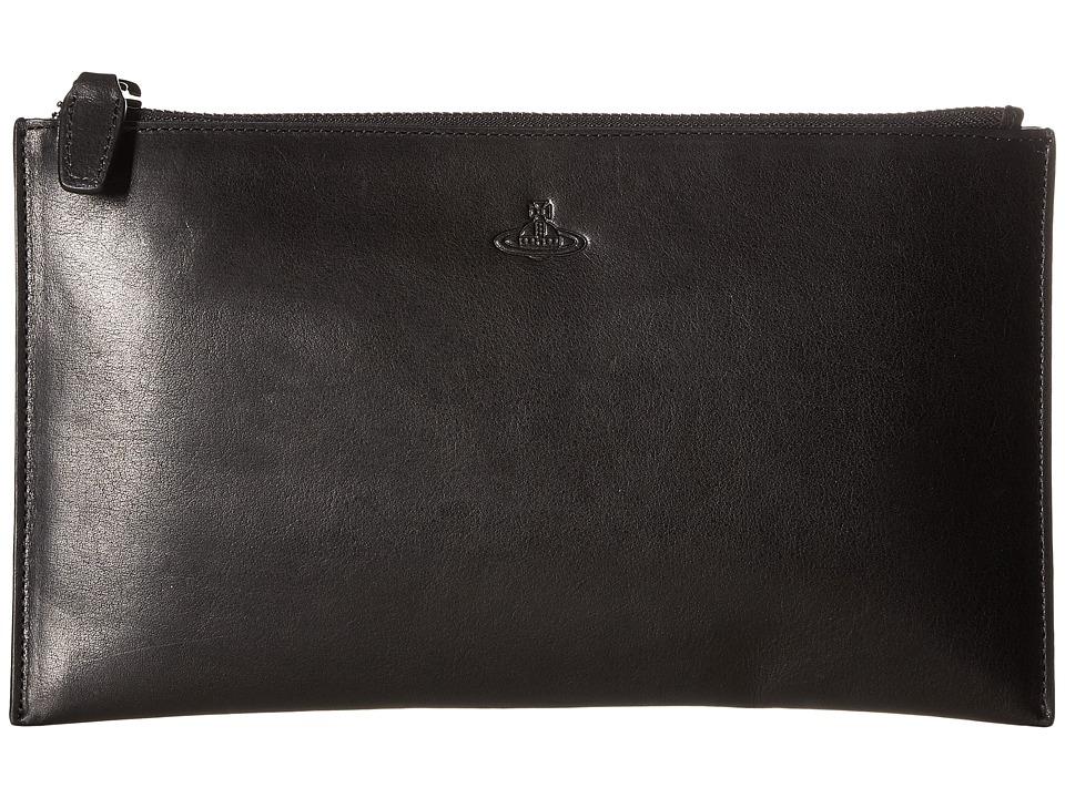 Vivienne Westwood - Flat Zip Wallet (Black) Wallet Handbags