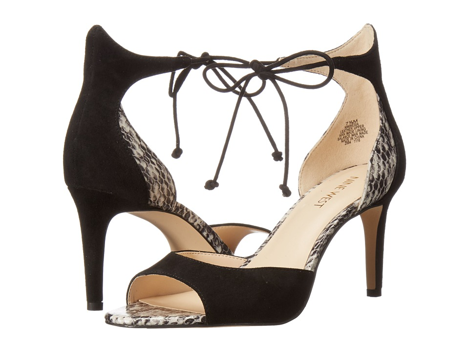 Nine West - Inesia (Black/Off-White Suede) Women's Shoes