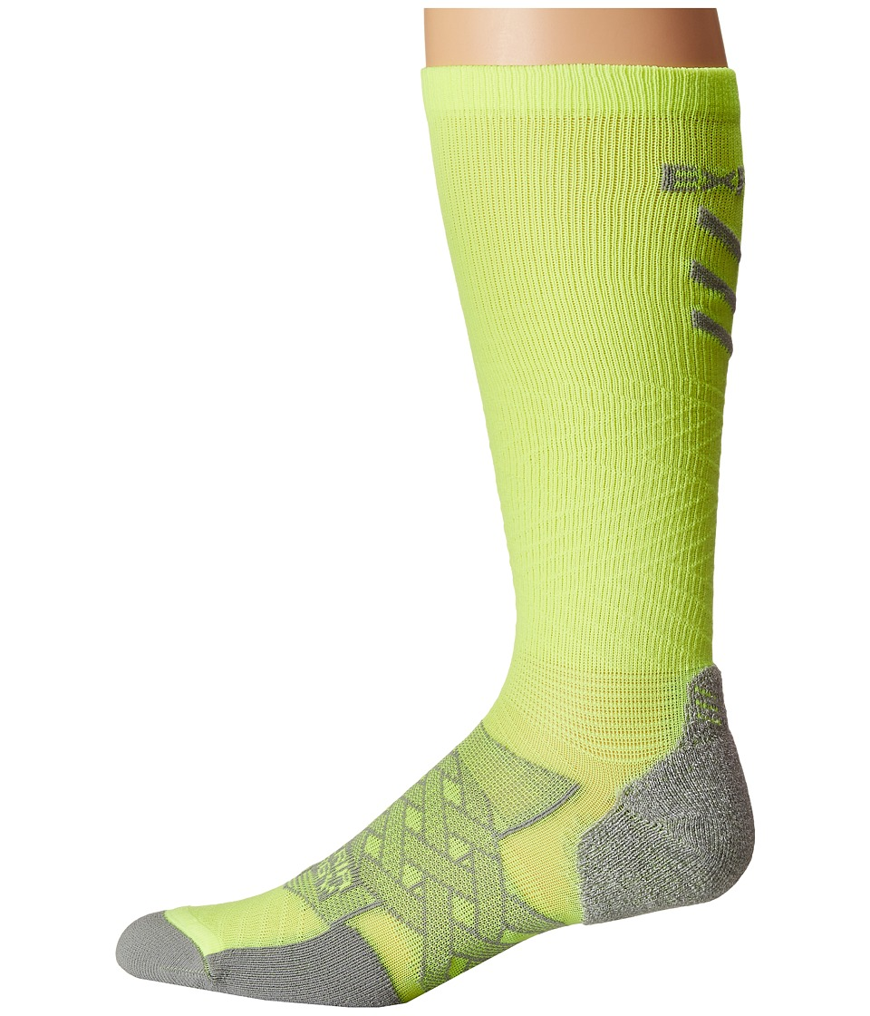 Thorlos - Experia Energy Over the Calf Single Pair (Electric Yellow) Crew Cut Socks Shoes