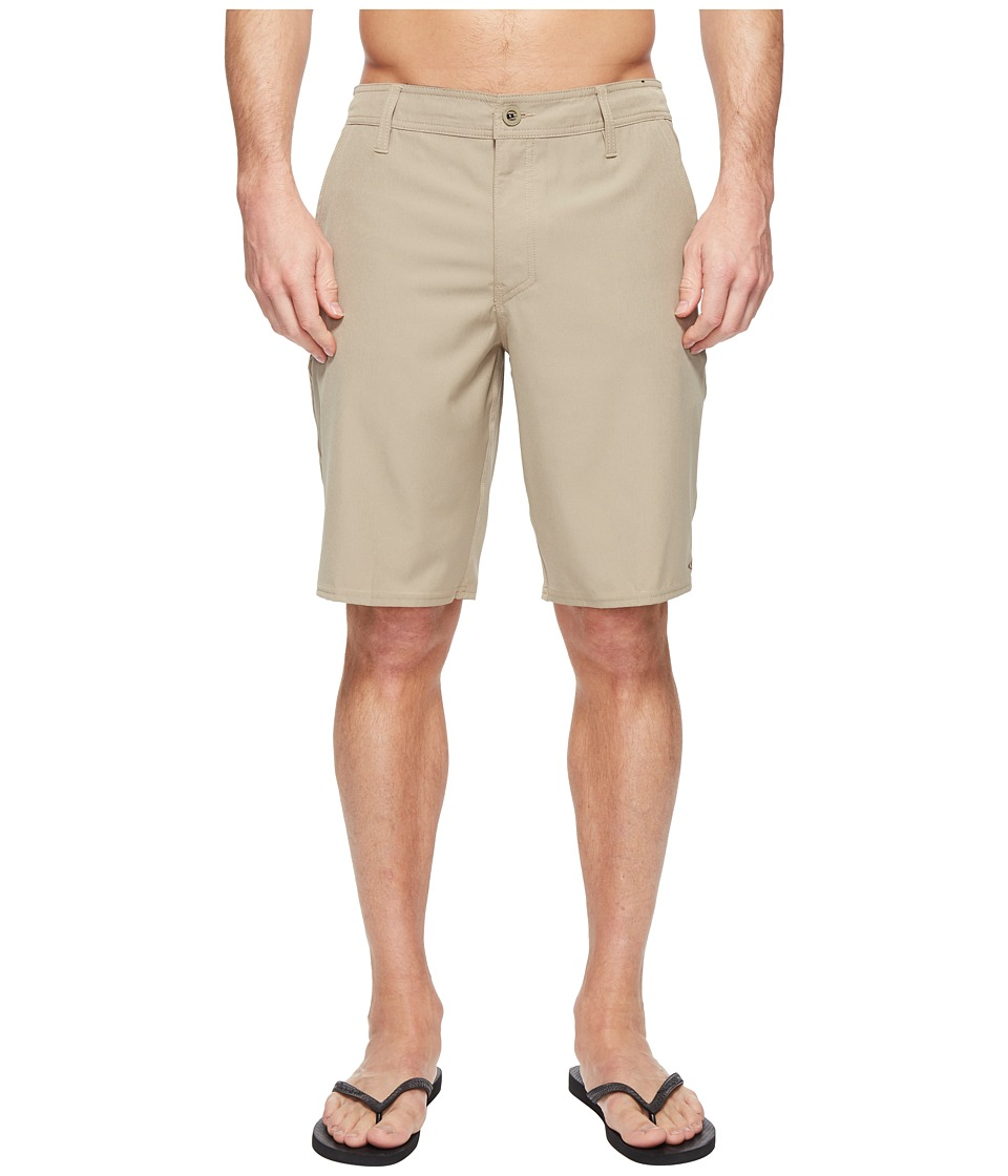 O'Neill - Loaded Solid Hybrid Boardshorts (Khaki) Men's Swimwear