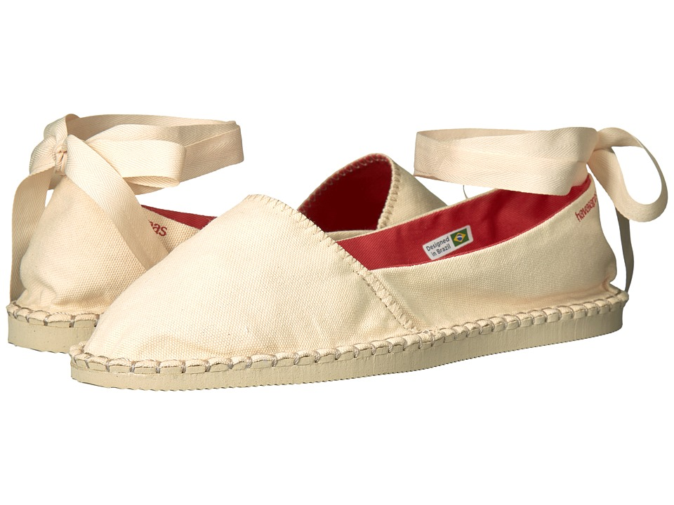 Havaianas - Origine Slim Espadrille (Beige) Women's Flat Shoes