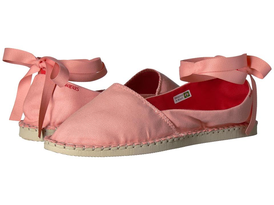Havaianas - Origine Slim Espadrille (Light Rose) Women's Flat Shoes