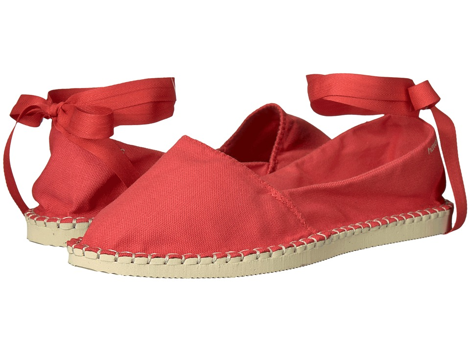 Havaianas - Origine Slim Espadrille (Ruby Red) Women's Flat Shoes