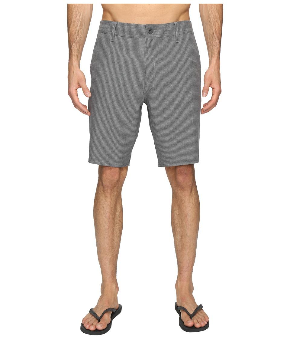 O'Neill - Locked Stripe Hybrid Boardshorts (Black) Men's Swimwear