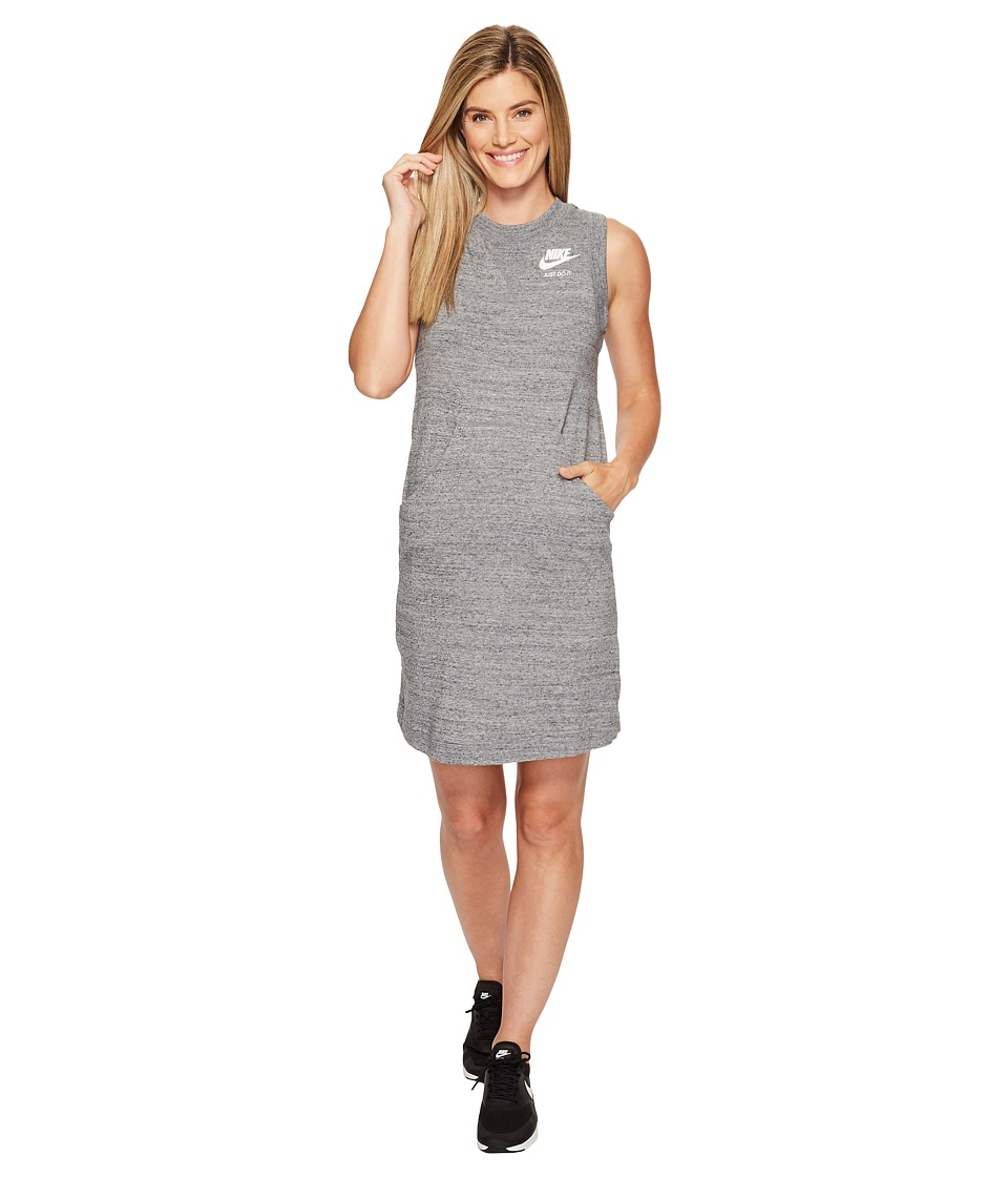 Nike - Sportswear Gym Vintage Dress (Carbon Heather/Sail) Women's Dress