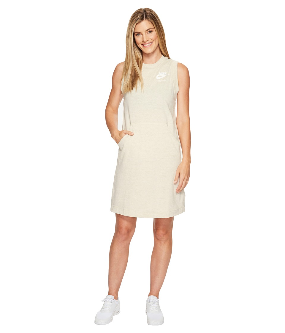 Nike - Sportswear Gym Vintage Dress (Oatmeal/Sail) Women's Dress