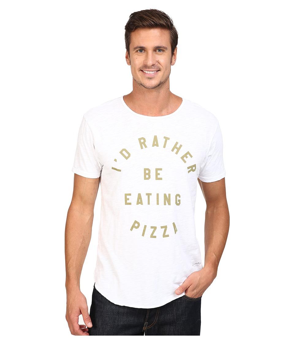 KINETIX Pizza Tee (White) Men's T Shirt