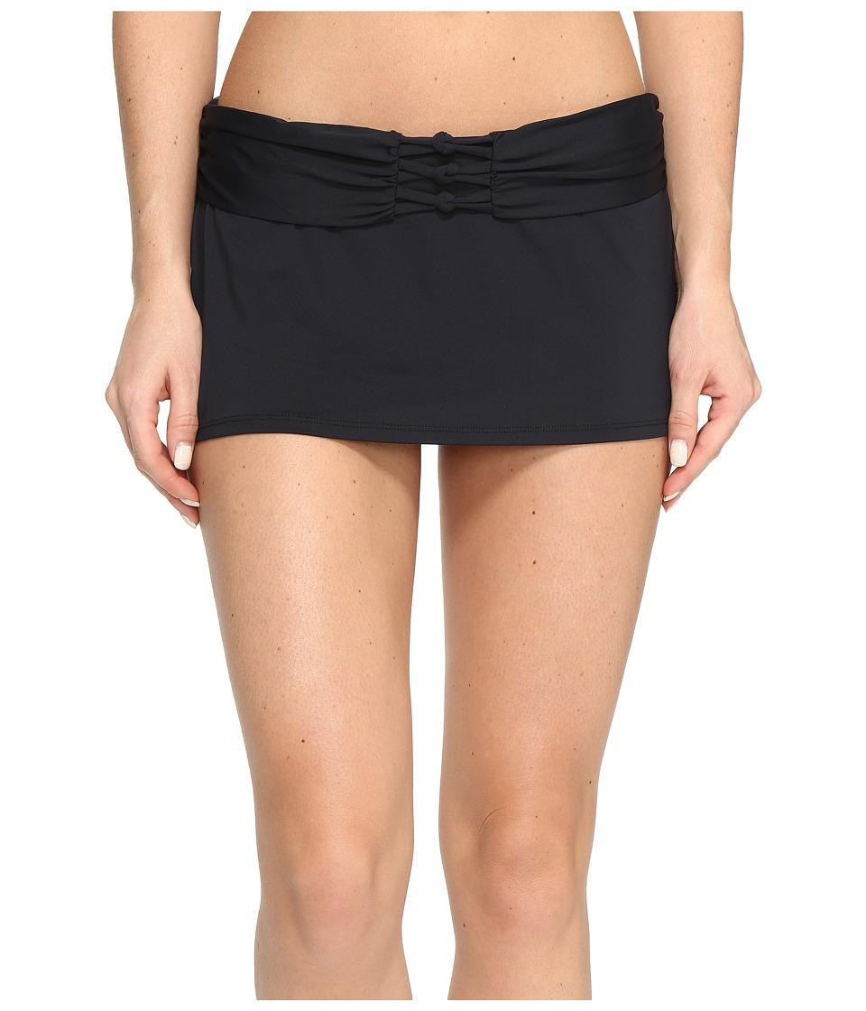 Bleu Rod Beattie - Knotty But Nice Skirted Hipster Bottom (Black) Women's Swimwear