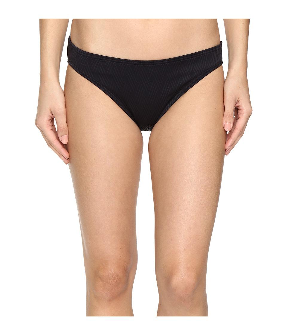 Vince Camuto Tahiti Texture Classic Bikini Bottom (Black) Women