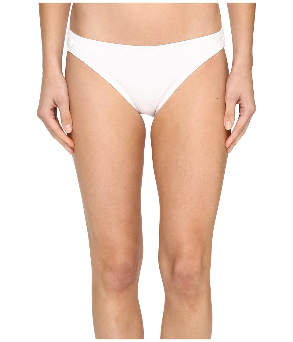 Vince Camuto - Tahiti Texture Classic Bikini Bottom (White) Women's Swimwear