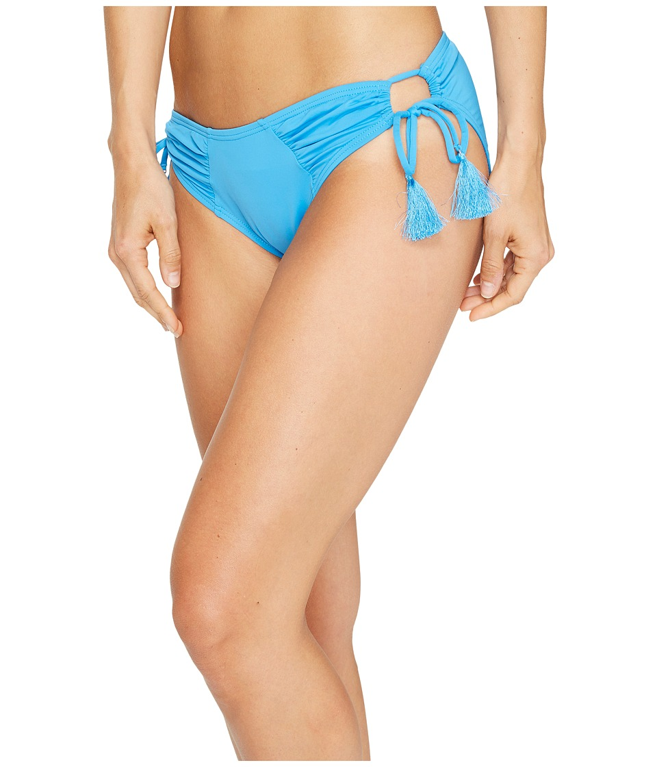 Vince Camuto - Fiji Solids Side Tie Cheeky Bikini Bottom (Misty Blue) Women's Swimwear