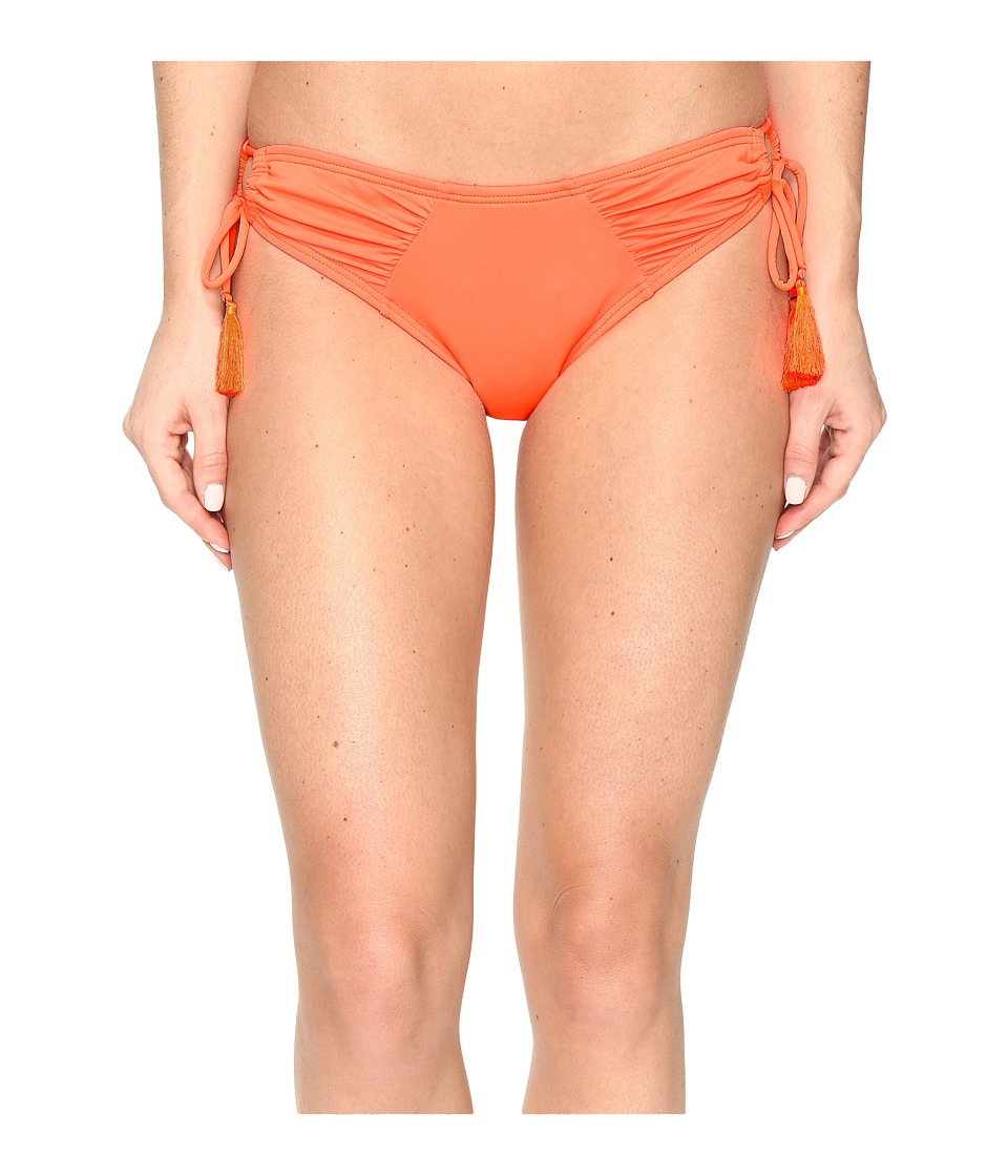 Vince Camuto Fiji Solids Side Tie Cheeky Bikini Bottom (Pop Coral) Women