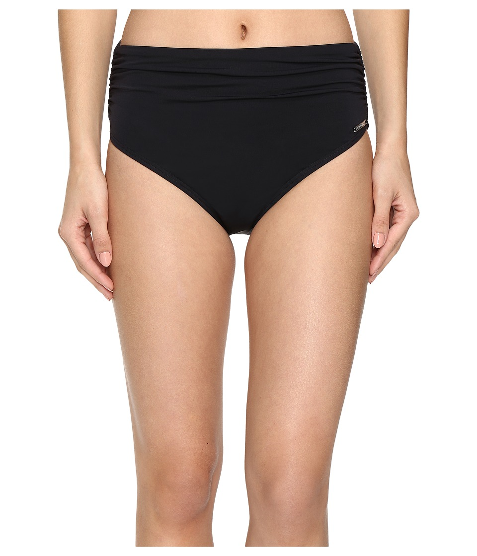 Vince Camuto - Fiji Solids Convertible High Waist Bikini Bottom (Black) Women's Swimwear