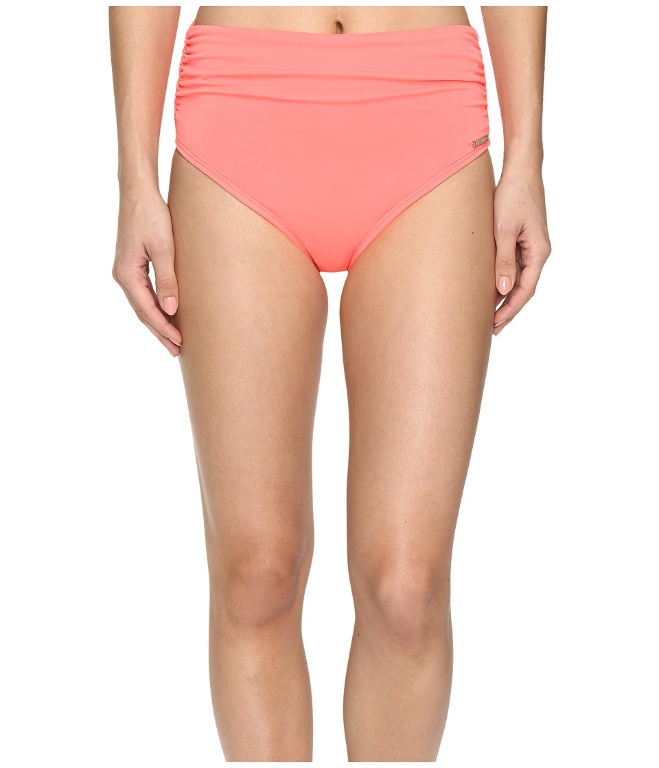 Vince Camuto - Fiji Solids Convertible High Waist Bikini Bottom (Pop Coral) Women's Swimwear