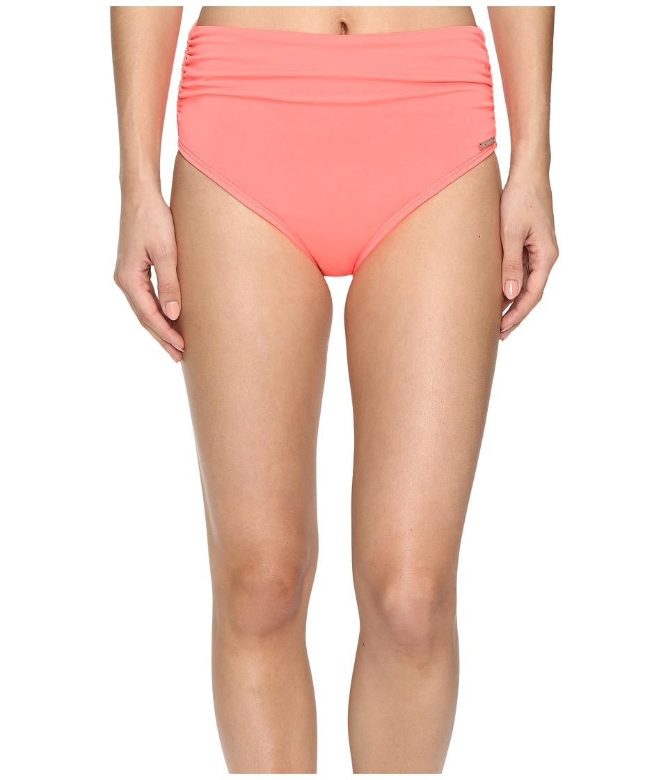 Vince Camuto - Fiji Solids Convertible High Waist Bikini Bottom (Pop Coral) Women's Swimwear