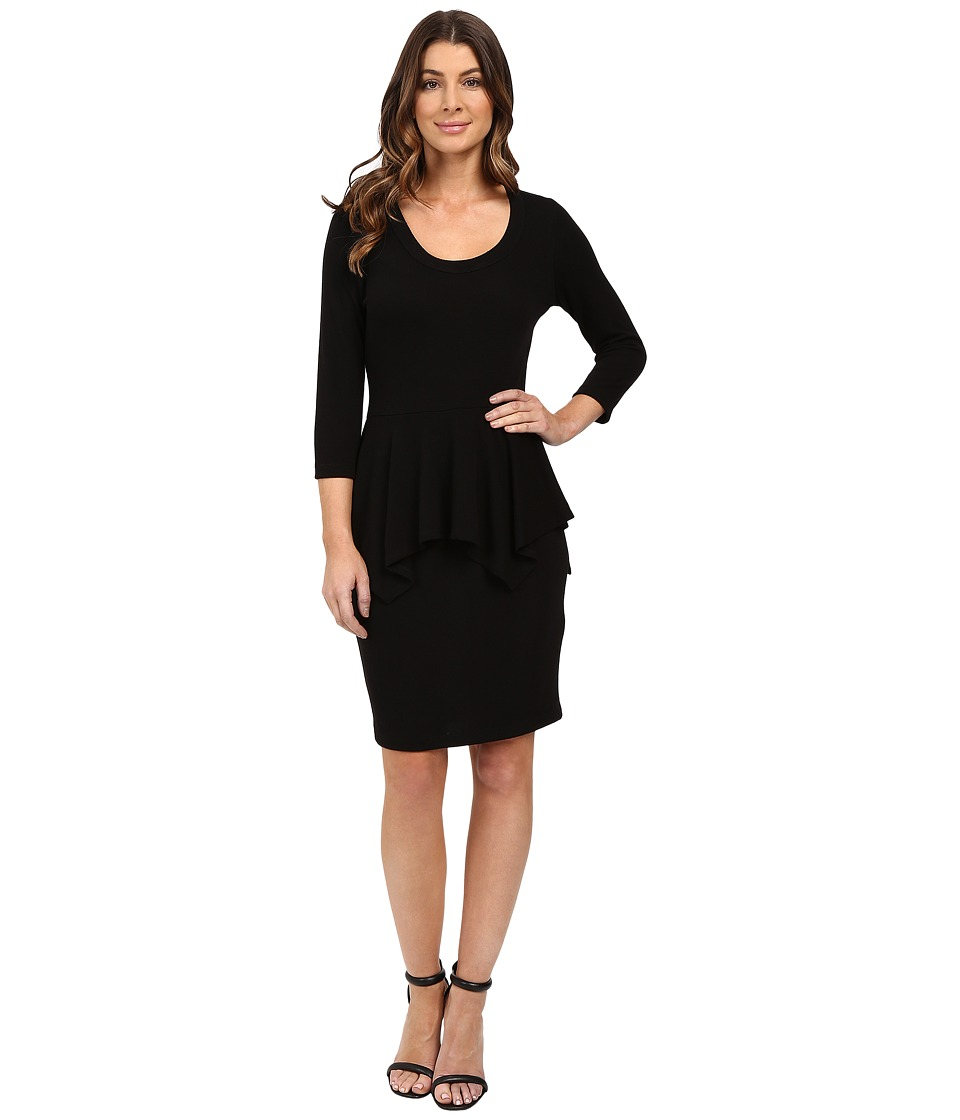 Karen Kane - Peplum Sweater Dress (Black) Women's Dress