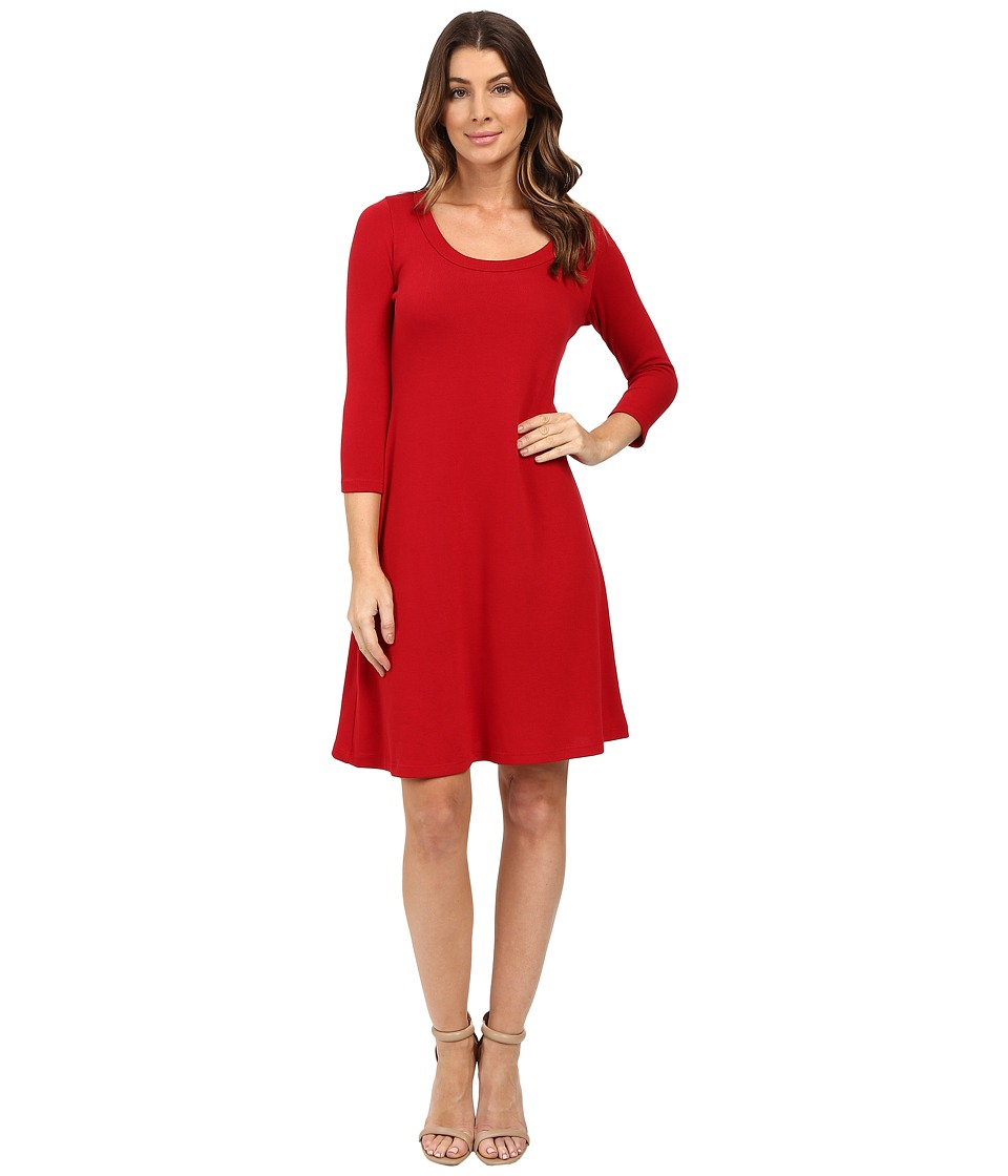 Karen Kane 3/4 Sleeve Sweater Dress (Red) Women