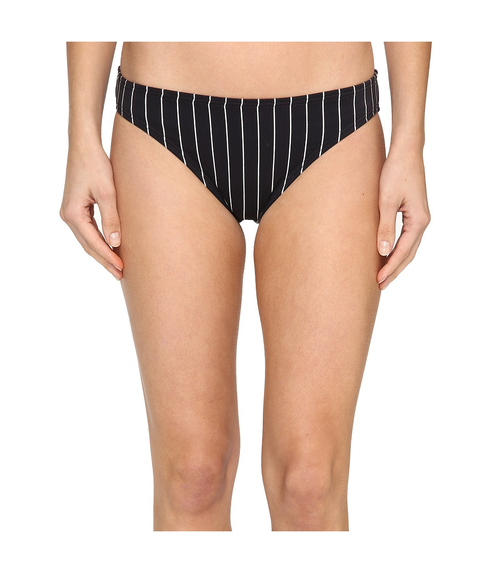 Vince Camuto Port Vila Stripe Classic Bikini Bottom (Black) Women
