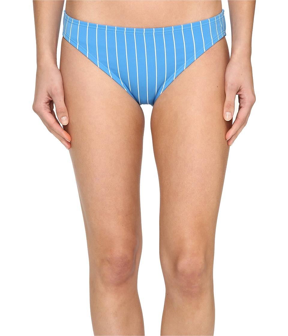 Vince Camuto Port Vila Stripe Classic Bikini Bottom (Misty Blue) Women