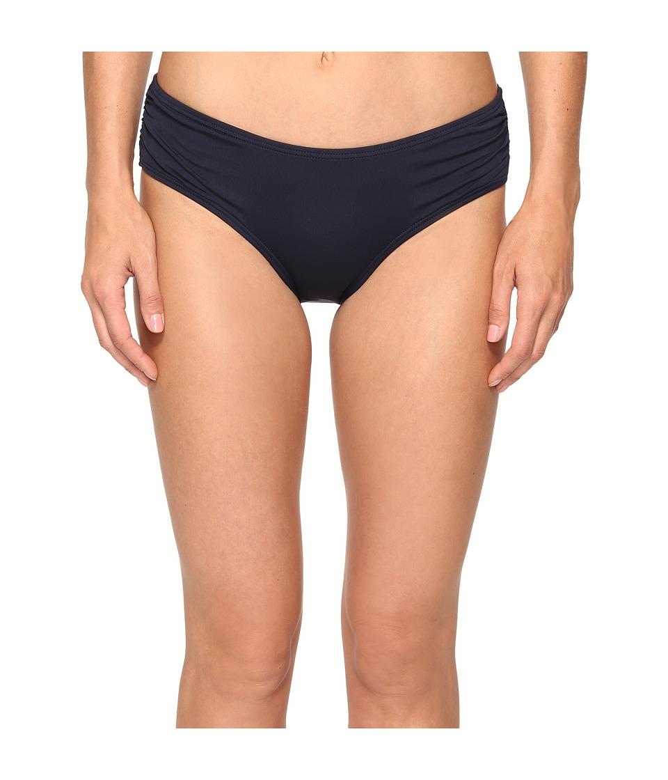 MICHAEL Michael Kors - Villa Del Mar Shirred Bikini Bottom (New Navy) Women's Swimwear