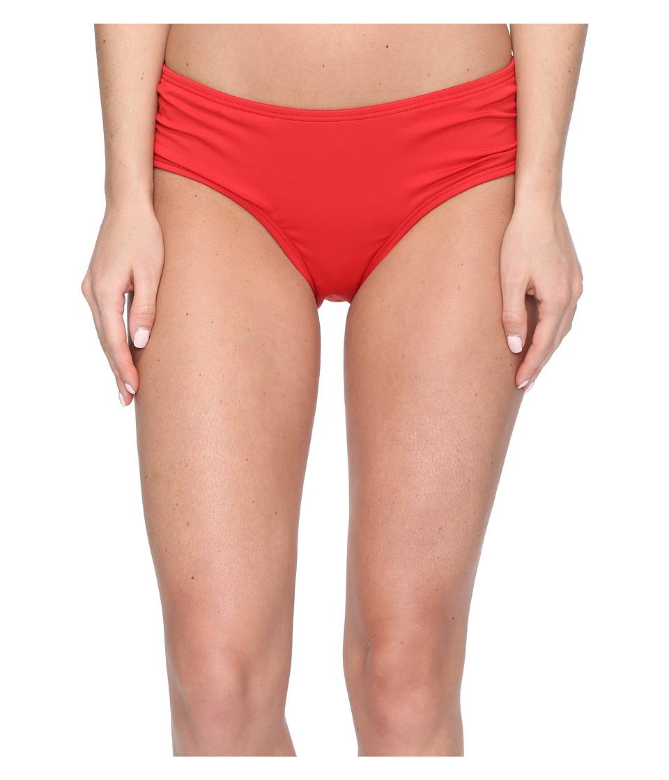 MICHAEL Michael Kors - Villa Del Mar Shirred Bikini Bottom (Red Blaze) Women's Swimwear