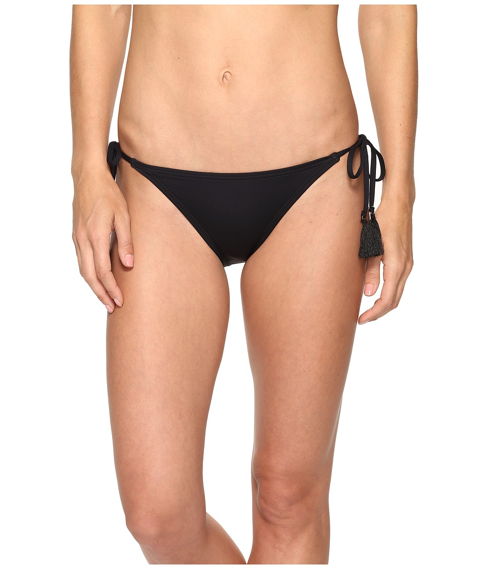 MICHAEL Michael Kors - Villa Del Mar Euro String Bikini Bottom (Black) Women's Swimwear