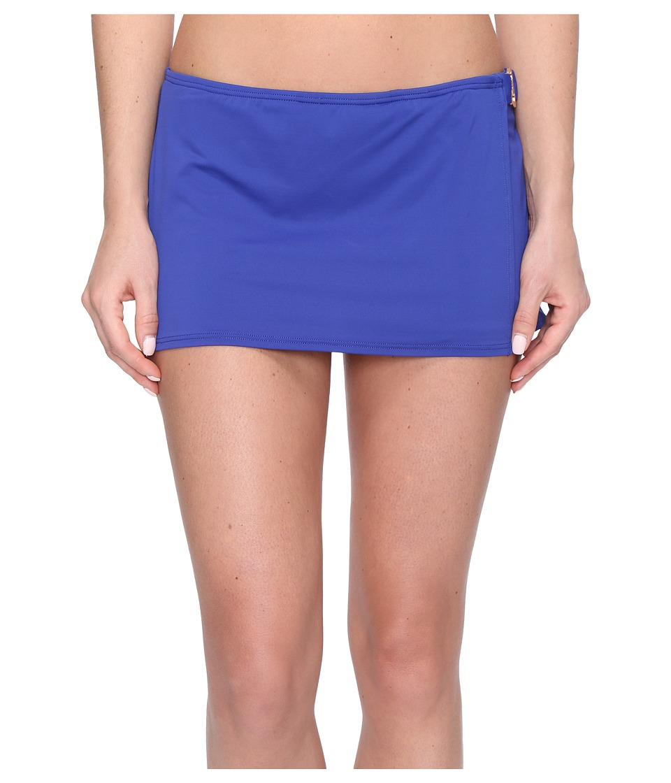 MICHAEL Michael Kors - Villa Del Mar Logo Ring Swim Skirt (Dark Azurite) Women's Swimwear