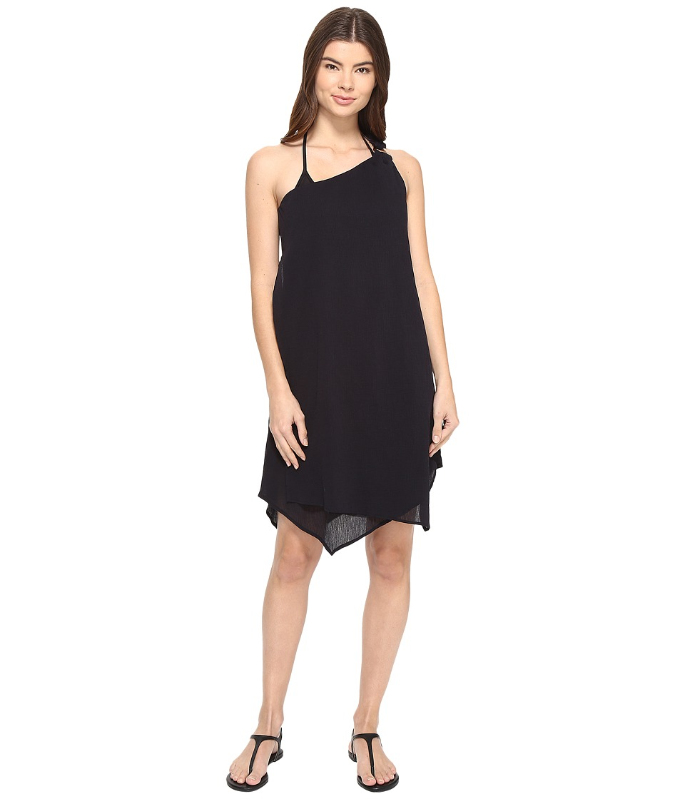 MICHAEL Michael Kors - Sunny Island One Shoulder Draped Dress Cover-Up (Black) Women's Swimwear