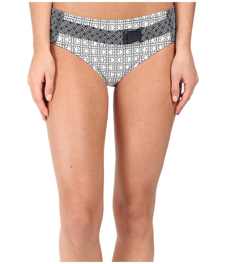 MICHAEL Michael Kors - Classic Bit Hipster Bikini Bottom (White) Women's Swimwear