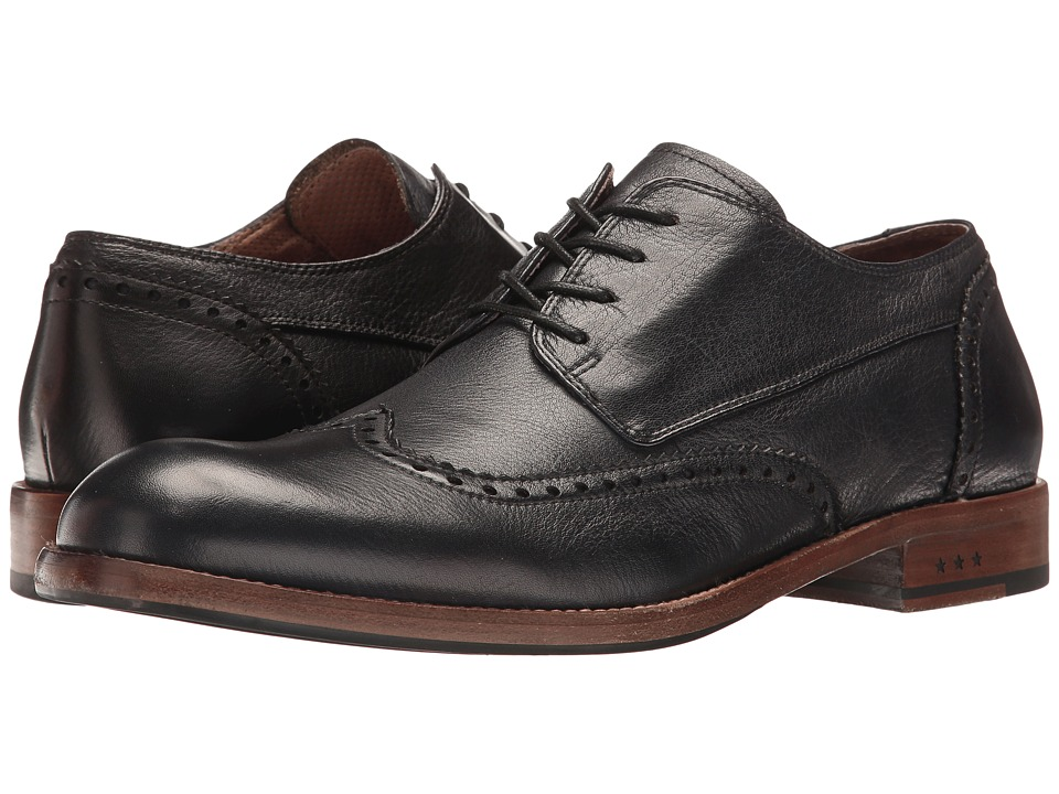 John Varvatos - Waverly Wingtip (Black) Men's Shoes