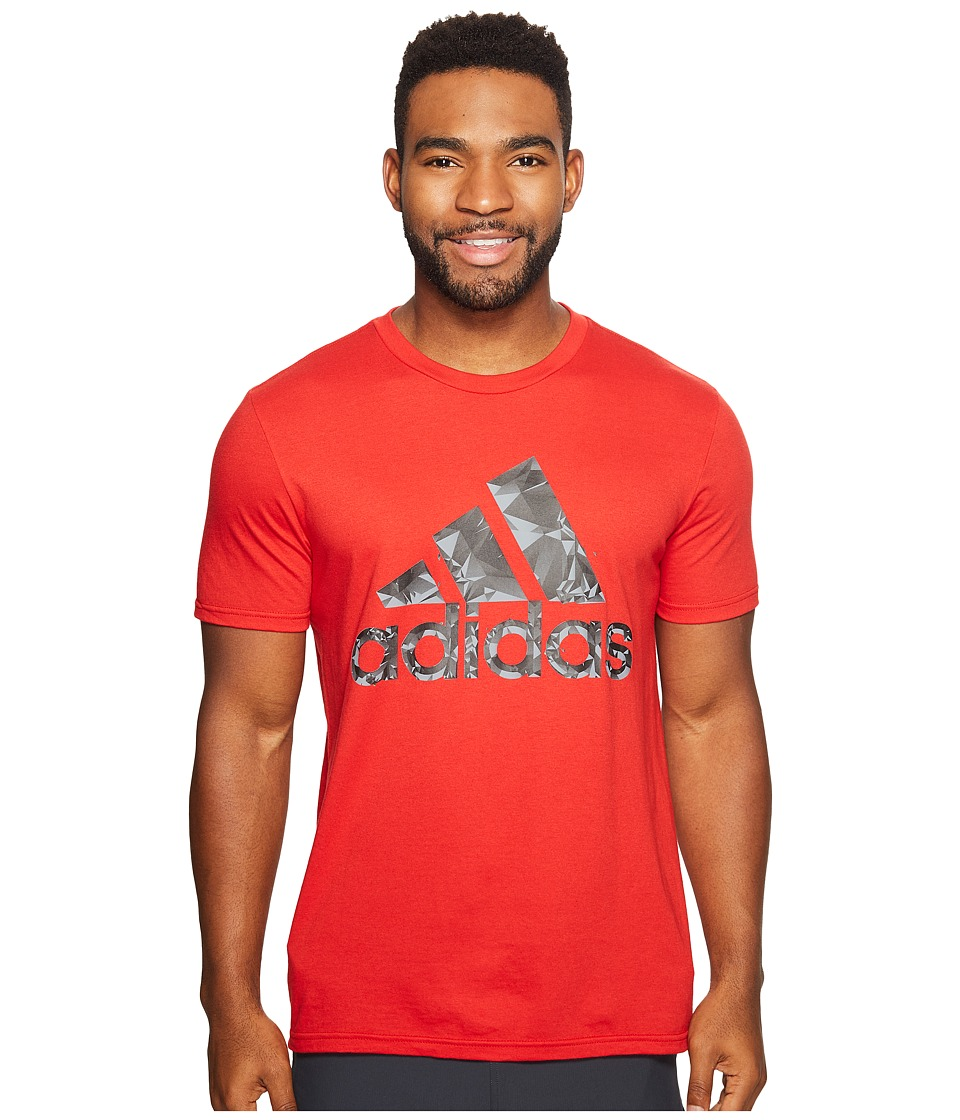 adidas - Adi Shatter Tee (Scarlet/Black/Grey) Men's T Shirt